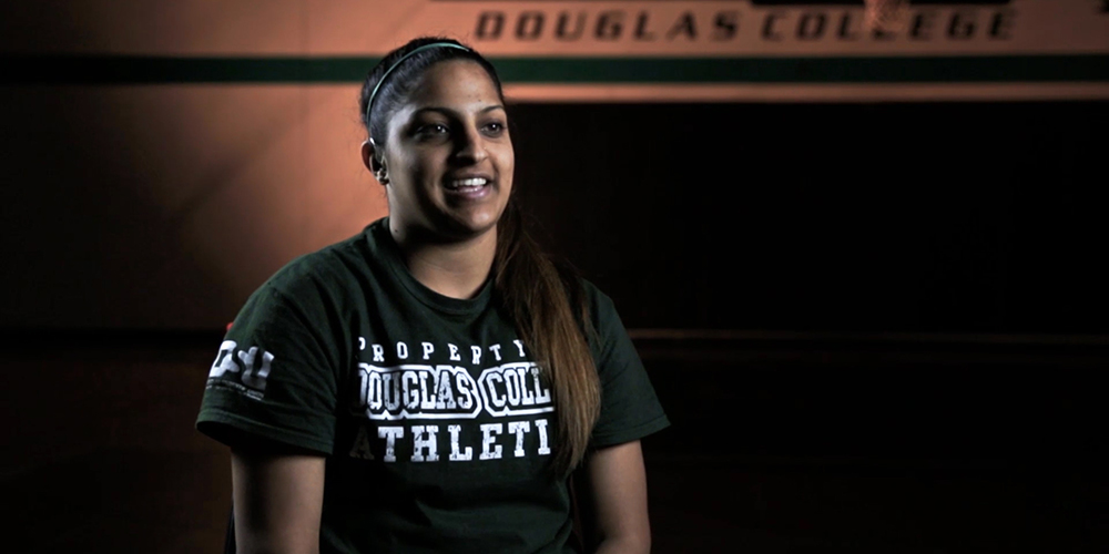 Douglas College basketball star