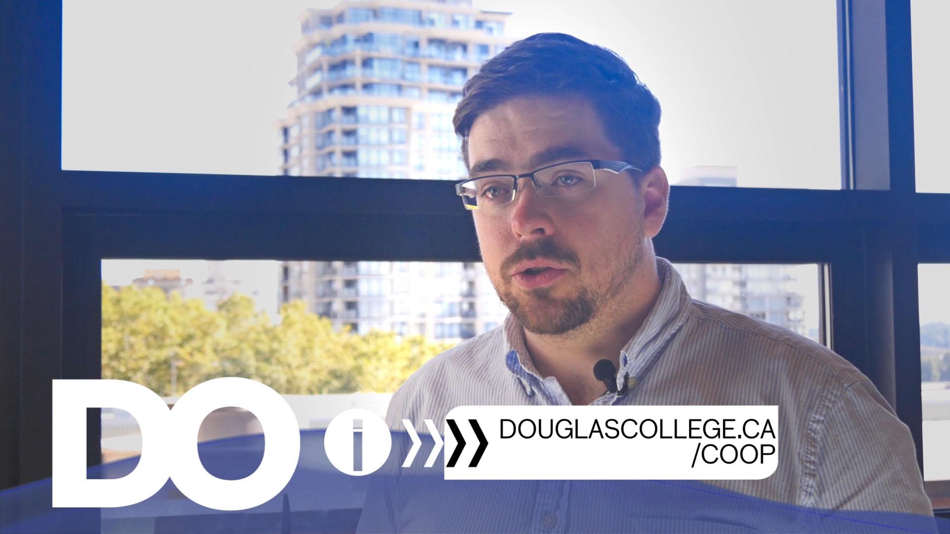 Douglas College Student Promo Iain McHugh